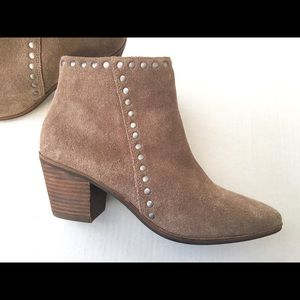 Lucky Brand Suede Studded Ankle Bootie Boots 7.5